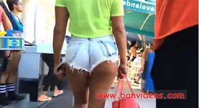 latina wearing jean shorts